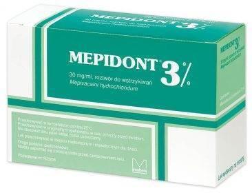 MEPIDONT 3% rozt. do wstrzykiwań zielony