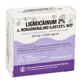 Lignocainum hydroch 2%z noradrenaliną 0,00125%