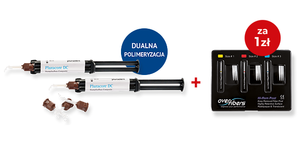 2 x Pluracore DC AutoMix Dentin + Hi Rem Post starter Kit