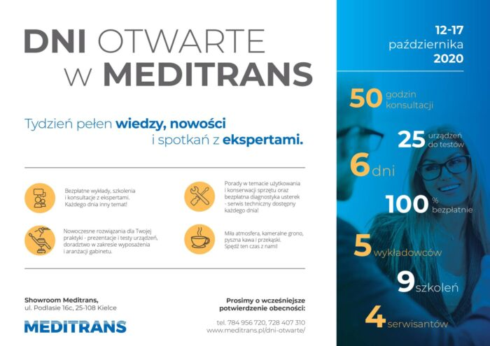 Warsztaty, szkolenia – Dni otwarte w Meditransie !!!! 12.10.2020-17.10.2020