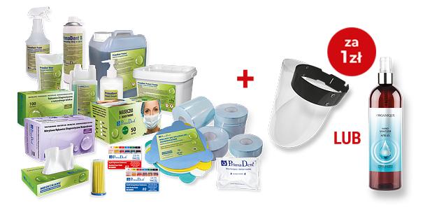 Hand Sanitizer 500 ml lub przyłbica BLK – za 1 zł